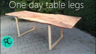 emergency slab table legs one day build