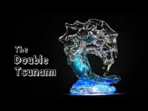 David Wight - Making the Double Medium Tsunami Glass Wave Sculpture