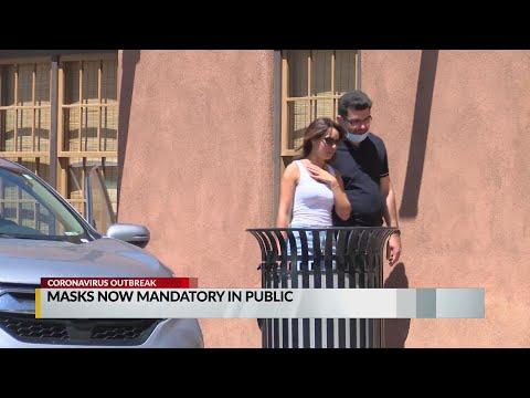 Video shows New Mexicans' mixed response to wearing masks