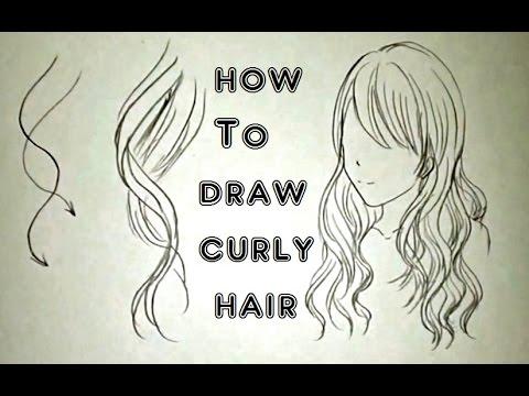 draw curly hair