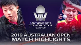 Ma Long vs Wang Chuqin | 2019 ITTF Australian Open Highlights (1/2)