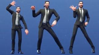 Fortnite John Wick Skin Performs All Dances & Emotes