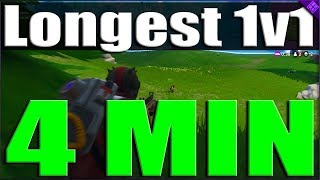 The Longest 1v1 ever in Fortnite Battle Royal, Huge Win Without Building