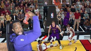 Clamping Up Everyone! No DWADE NO Problem! Lakers vs Heat NBA 2K19 MyCareer Ep 75