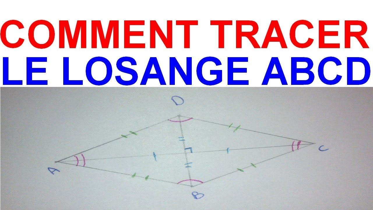 Maths 6ème - Les Bases De La Géométrie : Le losange Exercice 20 - YouTube