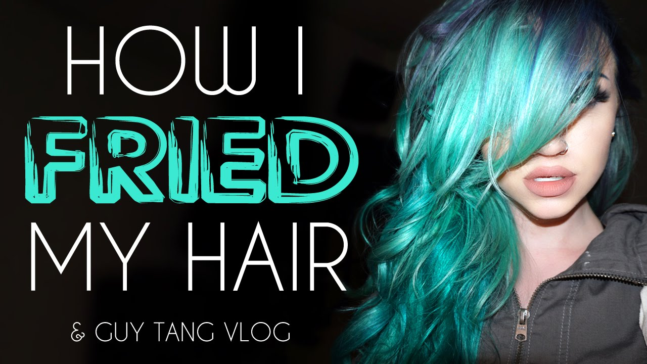 How I fried my hair & Guy Tang vlog - YouTube