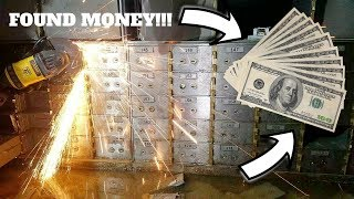 FOUND HUNDRED DOLLAR BILLS AND SILVER IN ABANDONED BANK!!! (GOT INSIDE LOCKED VAULT)