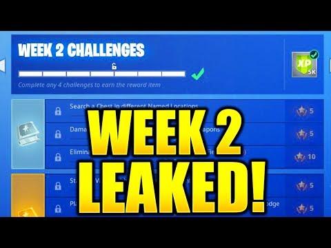 FORTNITE SEASON 7 WEEK 2 CHALLENGES LEAKED! WEEK 2 ALL CHALLENGES EASY GUIDE SEASON 7 CHALLENGES!