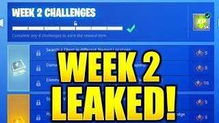 FORTNITE SEASON 7 WEEK 2 CHALLENGES LEAKED! WEEK 2 ALL CHALLENGES EASY GUIDE SEASON 7 CHALLENGES!