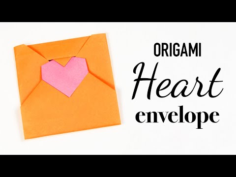 Origami Heart Envelope Tutorial - DIY - Paper Kawaii