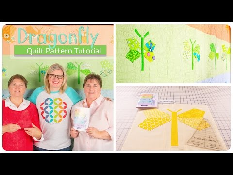 Dragonfly Quilt Block Tutorial Featuring The Double Wide Dresden Ruler