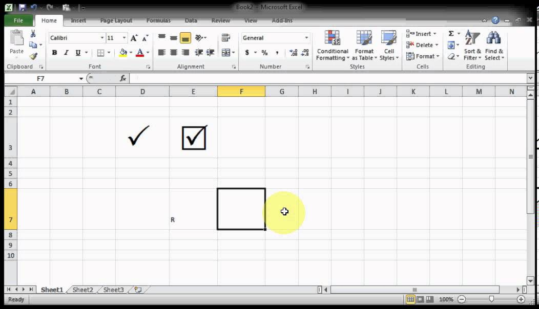 Microsof Excel Tips Tricks How To Get Tick Marks Pair Youtube
