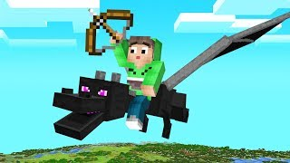 FLYING The ENDER DRAGON In MINECRAFT! (Amazing)