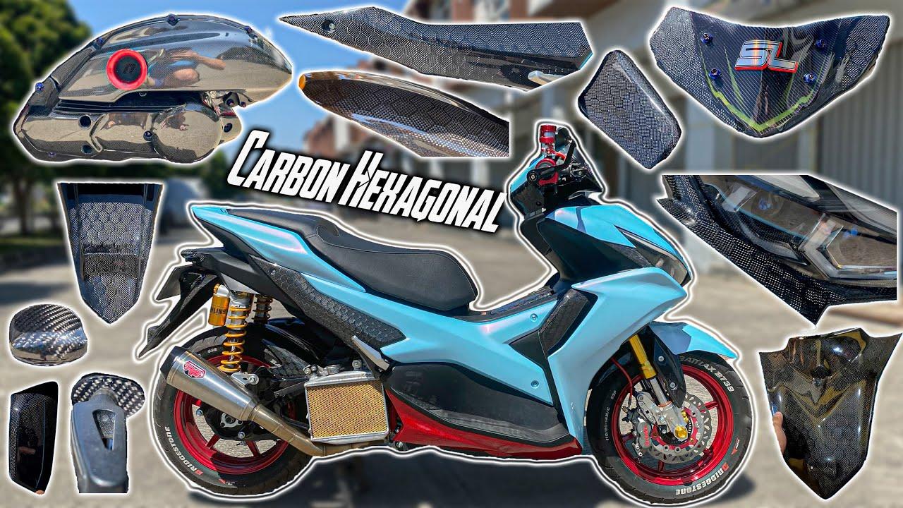 Full Carbon Hexagonal!! Makin Elegan dan Cakep | Aerox 155