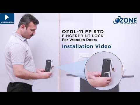 Ozone Fingerprint Digital Door Lock- Installation Guide