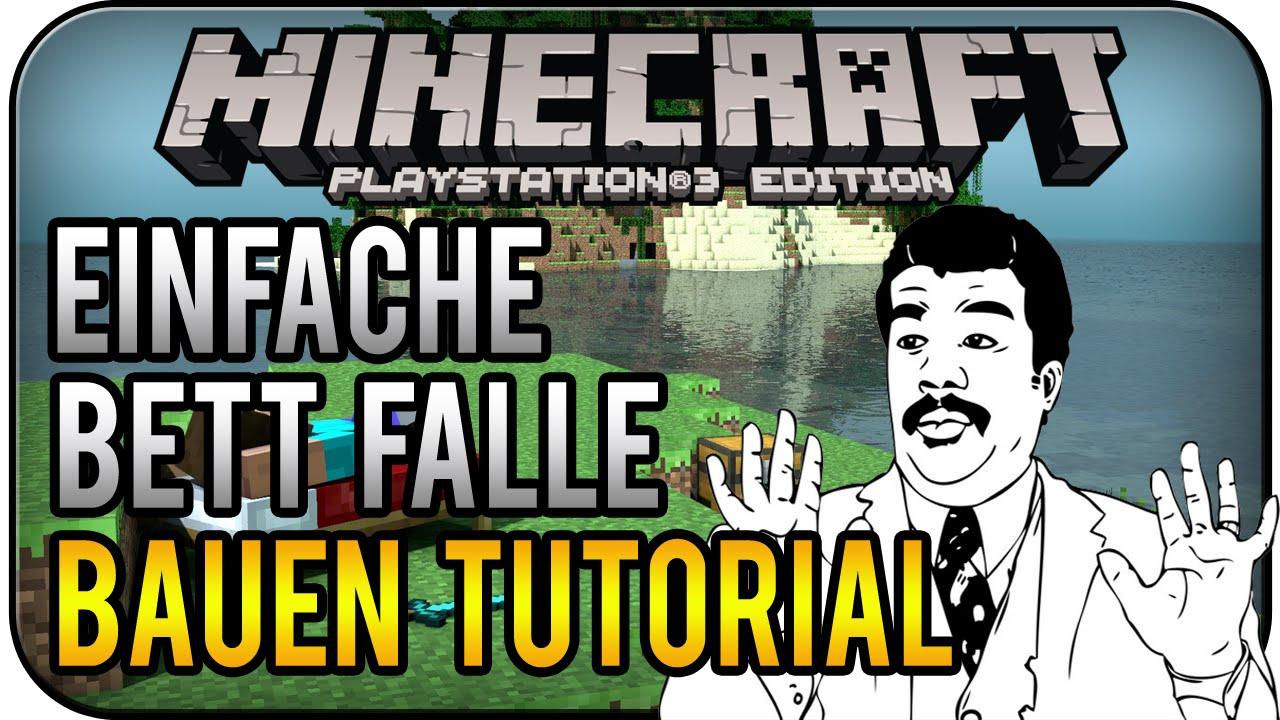Minecraft PS3 Edition - einfache Bett Falle bauen Tutorial ...
