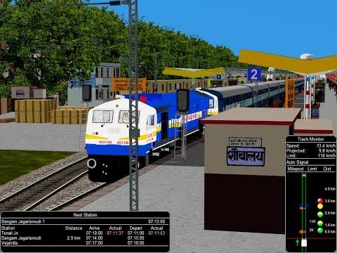 57652/Repalle Secunderabad Passenger Upto Guntur Via Tenali  || IR In MSTS In Open Rail