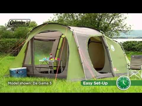 Coleman Da Gama 4 Family C&ing Tent - .outdooraction.co.uk & Coleman Da Gama 4 Family Camping Tent - www.outdooraction.co.uk ...