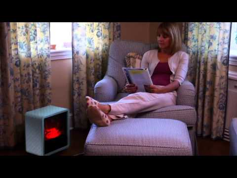 Duraflame 1500W Small Portable Heater With Realistic Flame Effect On QVC
