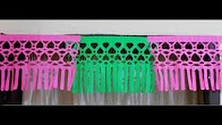 How to make paper door decor | Beautiful origami/DIY door decoration video