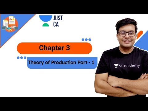 Theory of Production | Part - 1 | JUST CA Foundation | Mohnish Vora
