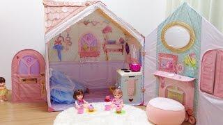 キッズテント かわいいお家 / Cute Playhouse : Rose Petal Cottage Playset for Kids thumbnail