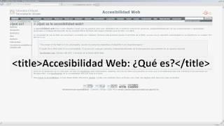 Errores web: El título de la página