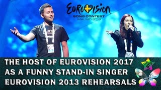 Repeat youtube video A funny stand-in backing singer at Ukraine's rehearsal for Eurovision 2013 (Timur Miroshnichenko)