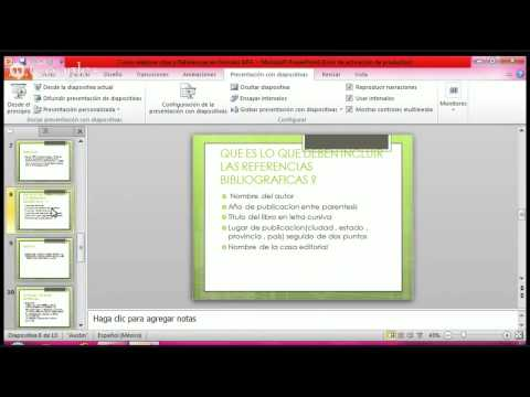 Como Hacer Referencias y Citas Bibliográficas Norma APA en MS Office 2013 de YouTube · Duración:  4 minutos 17 segundos
