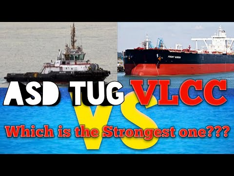 ASD tug Maju 510 versus VLCC Front queen in berthing and unberthing operation