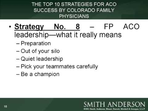 2012 - A year of Decision: Practical ACO Strategies for  Col