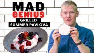 Grilled Summer Pavlova With Juicy Berries | Mad Genius