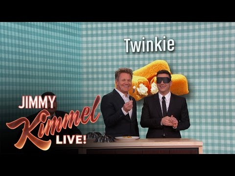 Gordon Ramsay Gives Jimmy Kimmel a Blind Taste Test