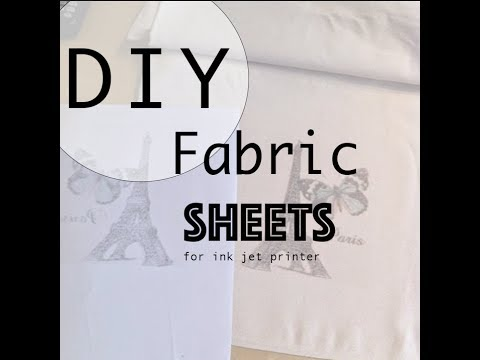 How to custom make Inkjet Printable Fabric sheets - YouTube