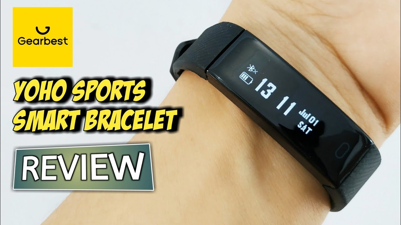 YOHO SPORTS SMART BRACELET UNBOXING REVIEW SETUP from GEARBEST