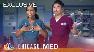 Yaya DaCosta & Brian Tee Play a Trivia Surgery Game - Chicago Med (Digital Exclusive)