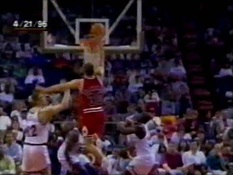 Jud Buechler Dunks from the Dotted Line, Posterizes McIlvaine