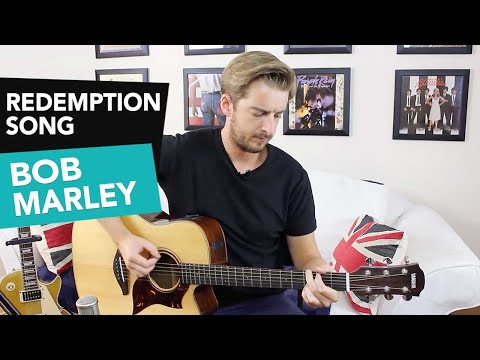 Redemption Song Bob Marley Guitar Lesson Tutorial  Easy Beginner