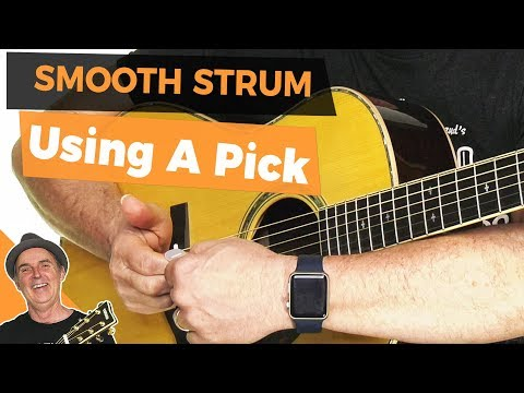 how-to-strum-smoothly-using-a-pick-[guitar-strumming-lessons]