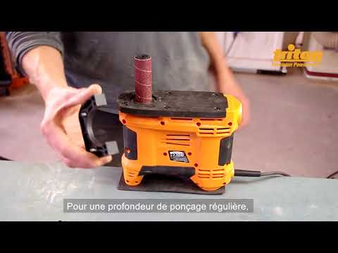 Ponceuse à cylindre oscillant compacte 650 W TSPSP650 Triton