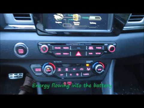 2017 Kia Niro Touring fuel economy tips - read the captions in green
