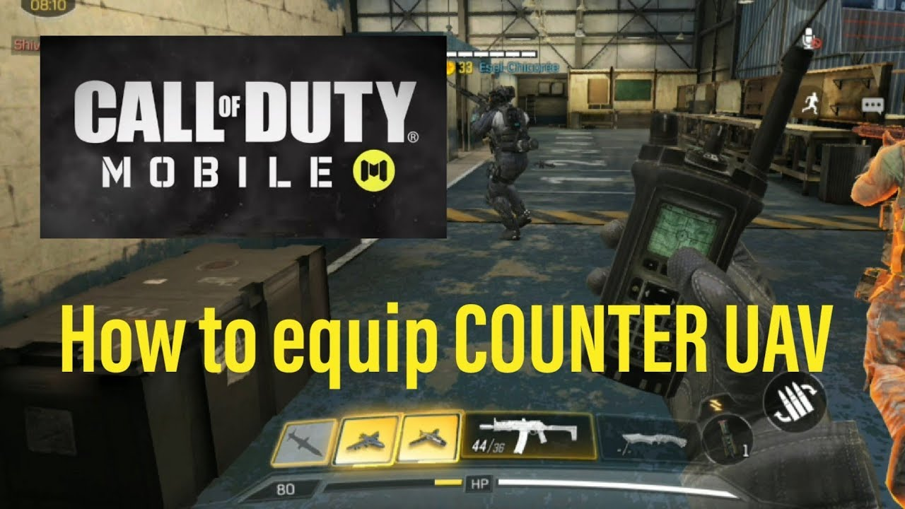 Call Of Duty Mobile How To Equip Counter Uav How To Loadout Counter Uav Youtube