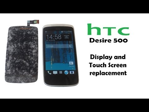 HTC Desire 500 Screen replacement - Full Touch Screen / Digitizer and LCD Display replacement