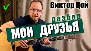 Как играть Кино В. Цой – Мои Друзья на гитаре Вступление   Аккорды   Бой