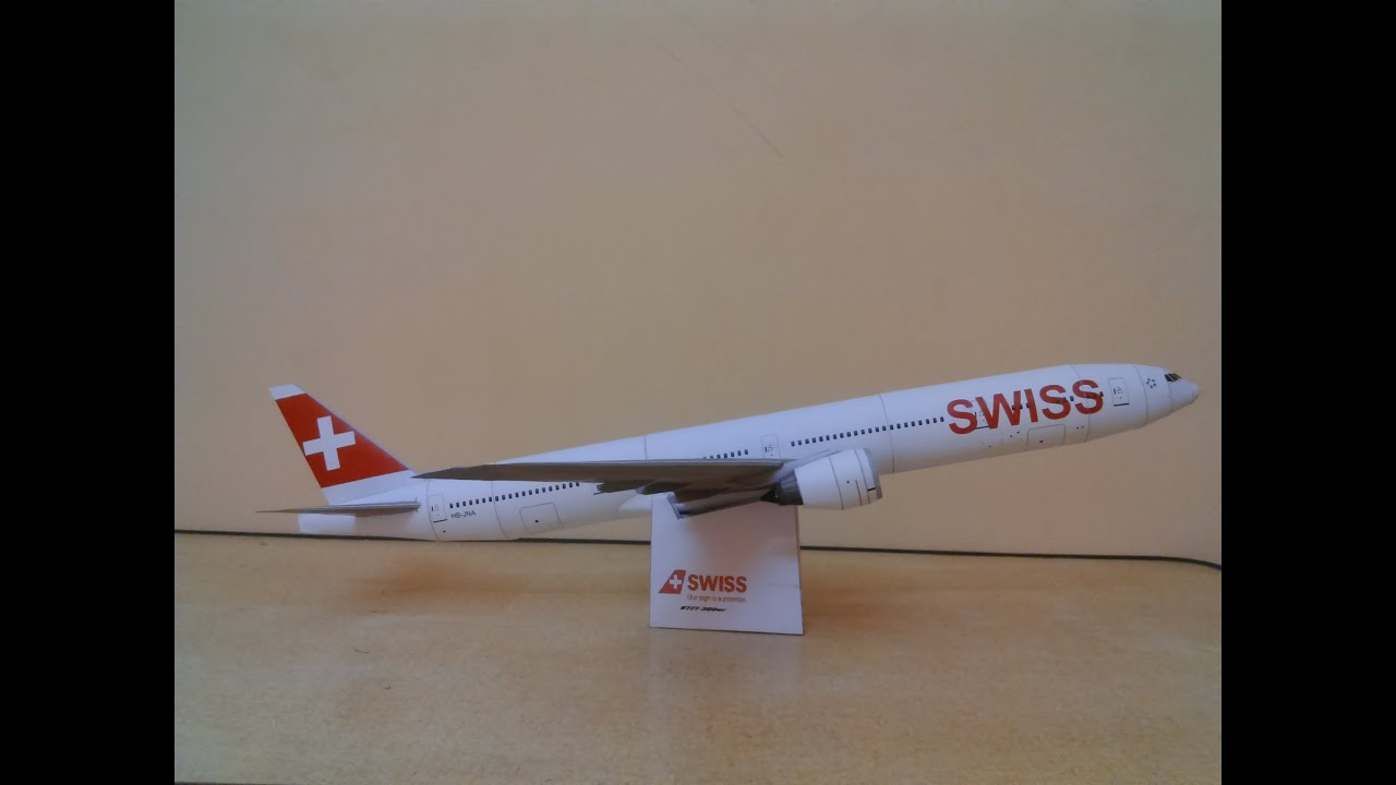 Papercraft Swiss B777-300er papercraft