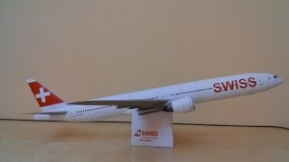 Swiss B777-300er papercraft
