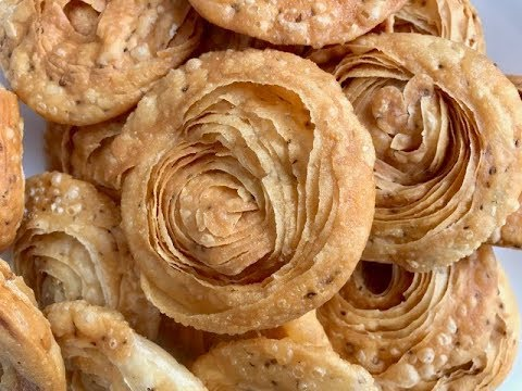 Savory Indian Snack  Chiroti (Khaja) - Indian Pastry in Gujarati with Raihana's Cuisines
