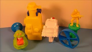 1990 THE REAL GHOSTBUSTERS SET OF 4 McDONALD'S HAPPY MEAL TOY'S VIDEO REVIEW