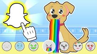 BABY PETS 👻📱 Max se hace fotos con Snapchat | Dibujos animados infantiles