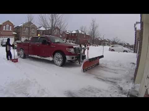 2010 Ford F150 Residential Snow Plowing With Arctic Poly Heavy Duty Snow Plow
